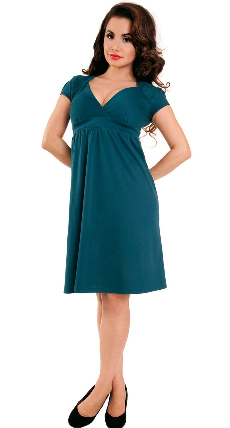 Cheap Pin Up Clothing Steady Clothing Sparrow Lush Dress In Teal  Blame Betty  Maternity