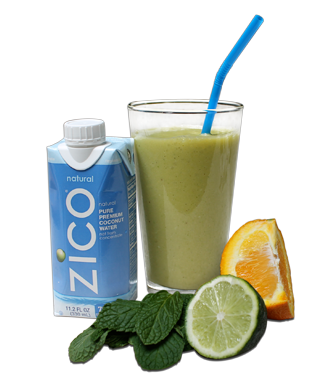 Check out ZICO's new recipe for The Mint Lime Detox #smoothie.