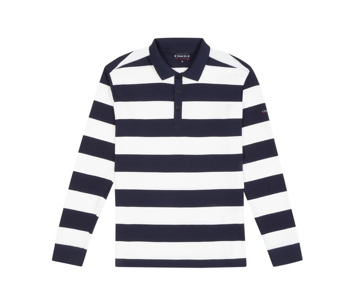 Navy And White Striped Rugby Shirt Navy White Clothes Lounge Wear
