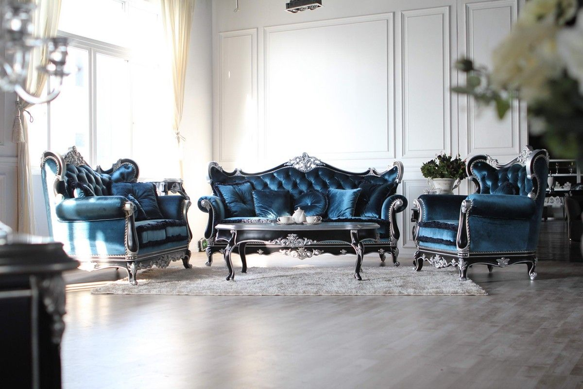 Best Blue Tufted Fabric Sofa Set Is A Package Of Excellence 400 x 300