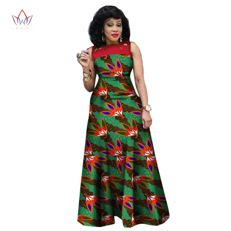 4807 10 African Print African Sleeveless Sexy Dress Plus Size
