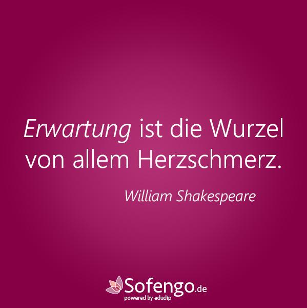Erwartung Ist Die Wurzel Von Allem Herzschmerz William Shakespeare Herzschmerz Gedanken Fur Den Tag Schmerz