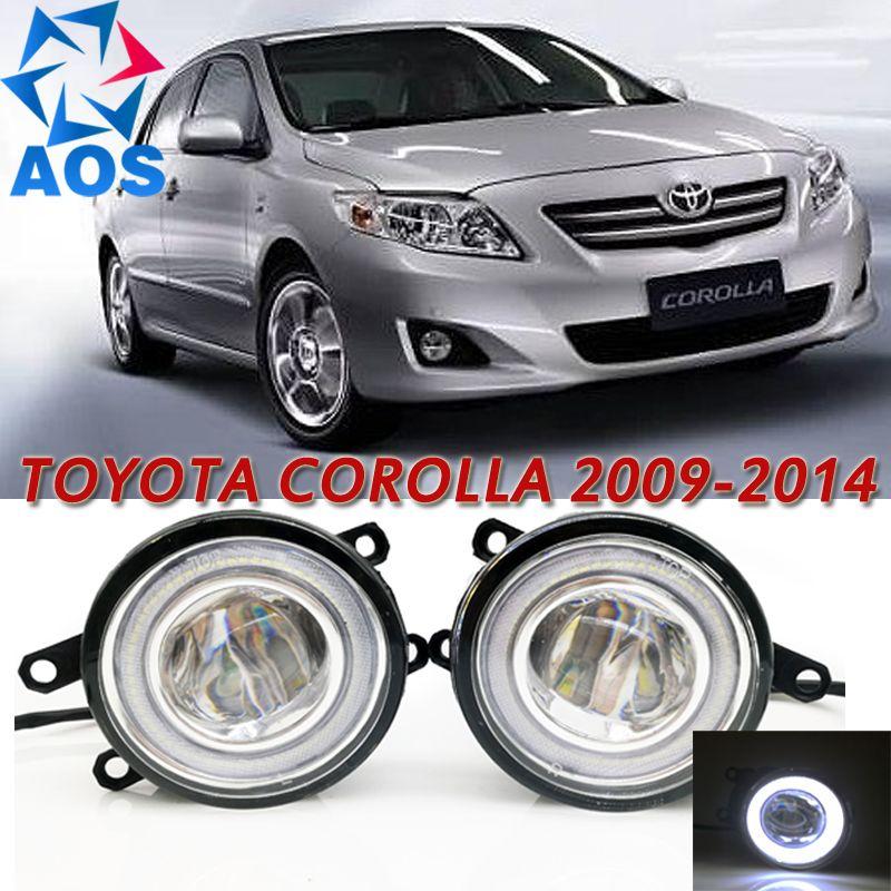 For Toyota Corolla 2009 2014 Car Styling Led Angel Eyes Drl Led Fog Light Car Daytime Running Light Auto Fog Lamp Wi Toyota Corolla Corolla 2009 Led Fog Lights