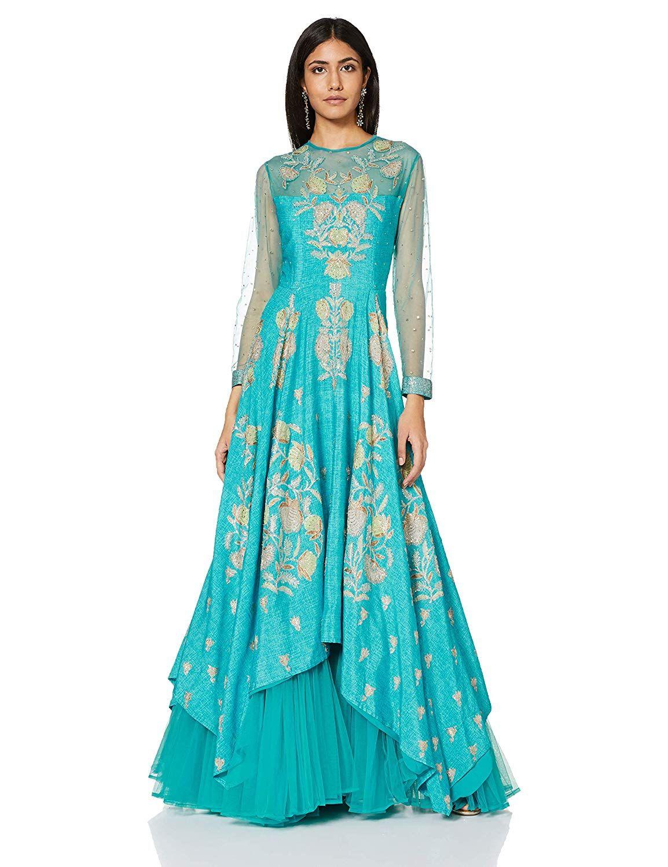 0d321da52 RI by Ritu Kumar Women's A-Line Maxi Dress: Amazon.in: Clothing &  Accessories