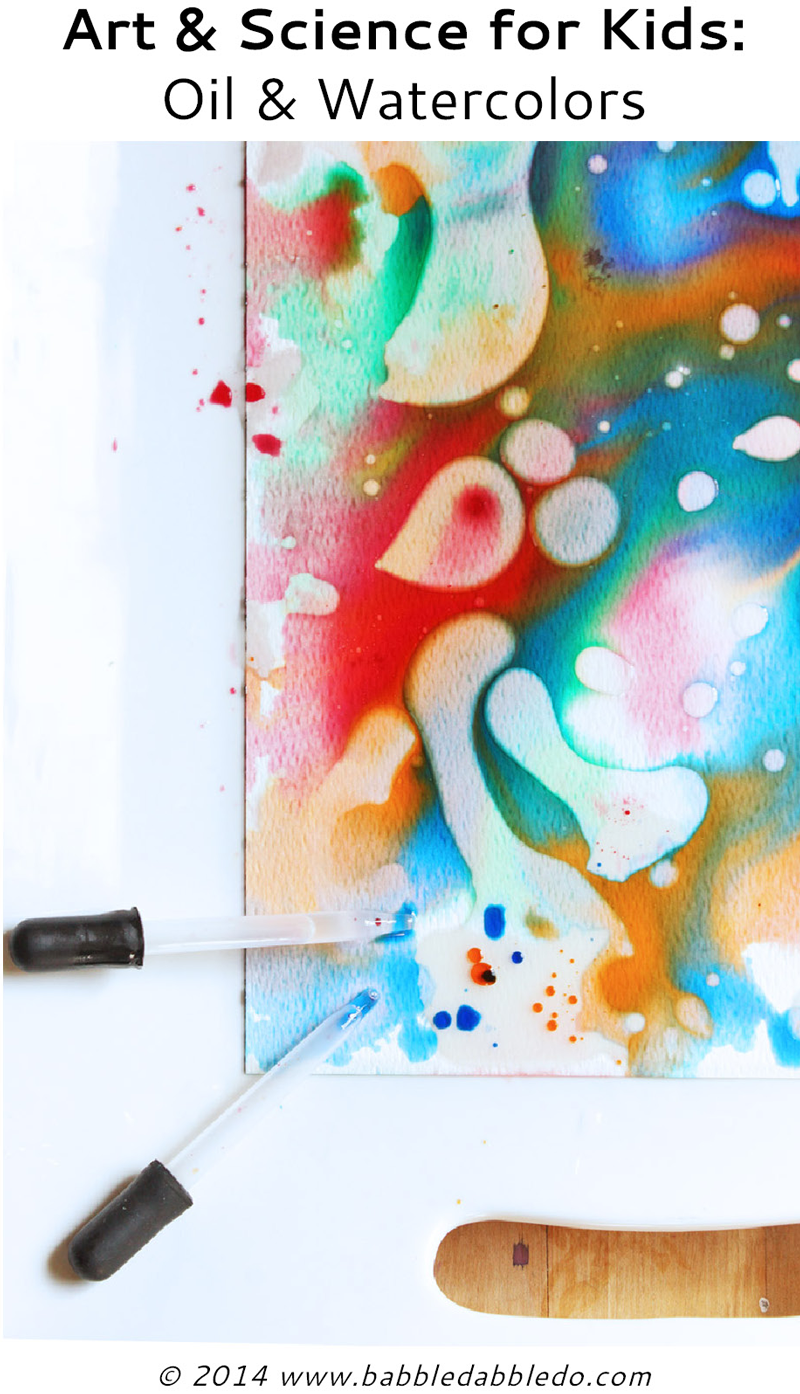 Easy Art Projects For Kids Experiment With Oil And Watercolors
