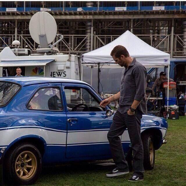 Paul & One Of His Cars From Fast 6, A 1970 Ford Escort R