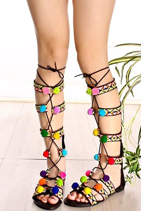 324c711a1729  FSJshoes -  FSJ Shoes Women s Colorful Flat Gladiator Sandals for Summer -  AdoreWe.