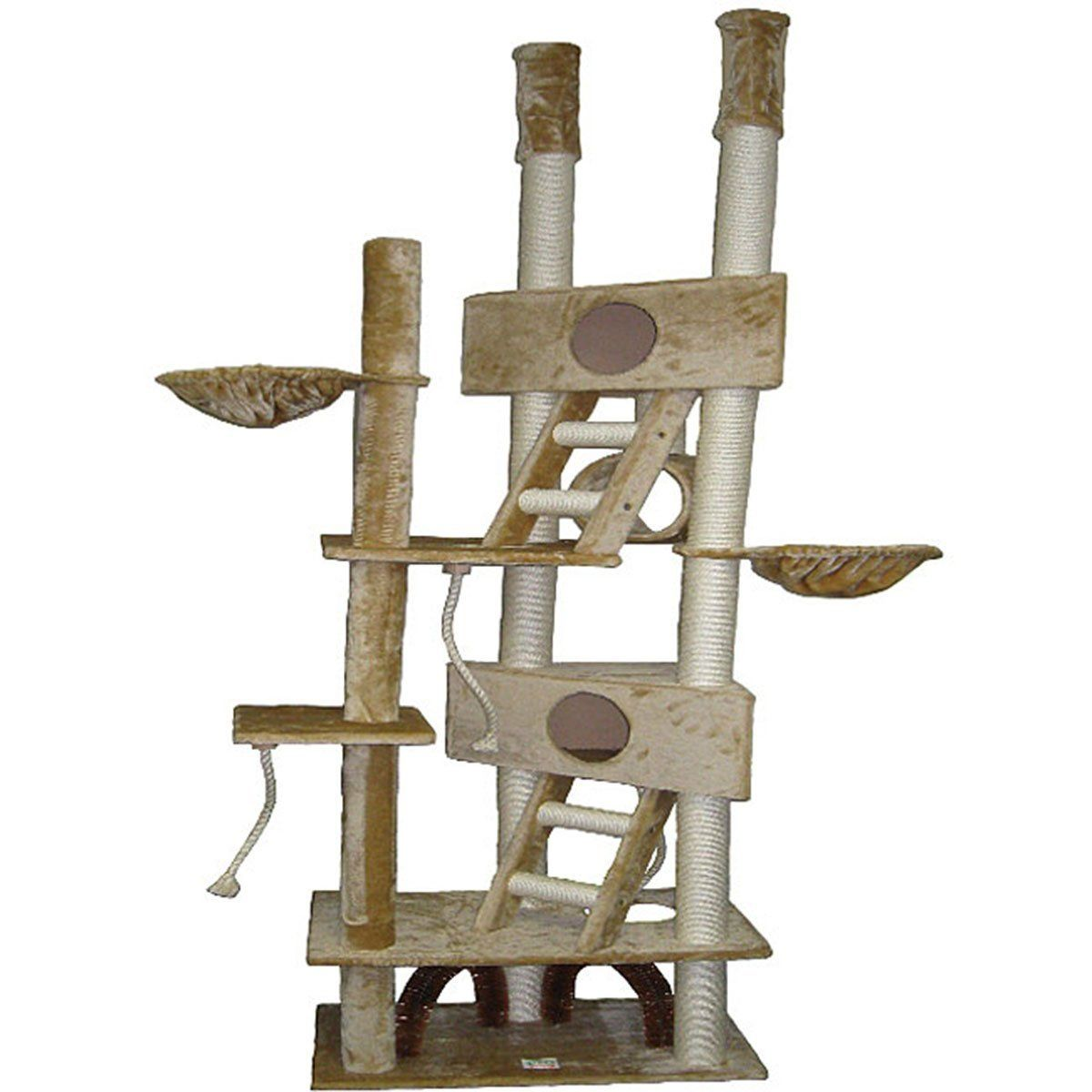 The Gocatclub Scratcher 106 Inch Cat Tree Check This Awesome Image Cat Tree House Huge Cat Cat Tree Condo