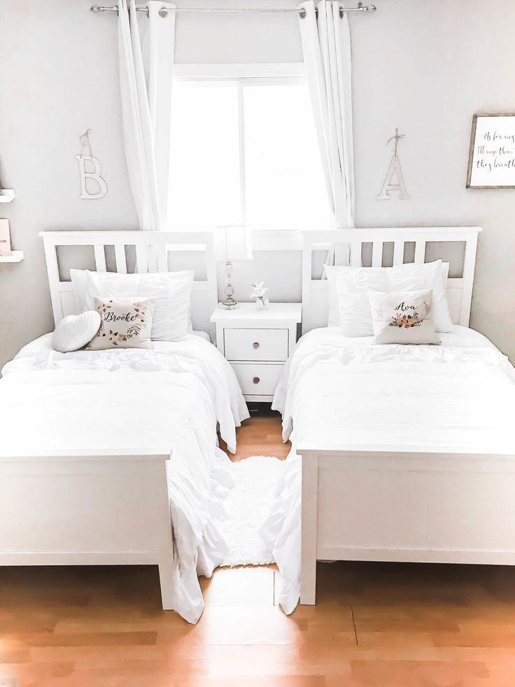Cozy And Whimsical Girls Shared Bedroom Reveal Shared Girls Bedroom Kids Shared Bedroom Shared Girls Room