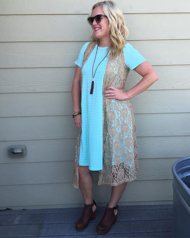 49184b3d581af The Carly Dress and the Joy Lace Vest...my new obsession  lularoecarly   lularoe  lularoejuliaelizabeth  ootd