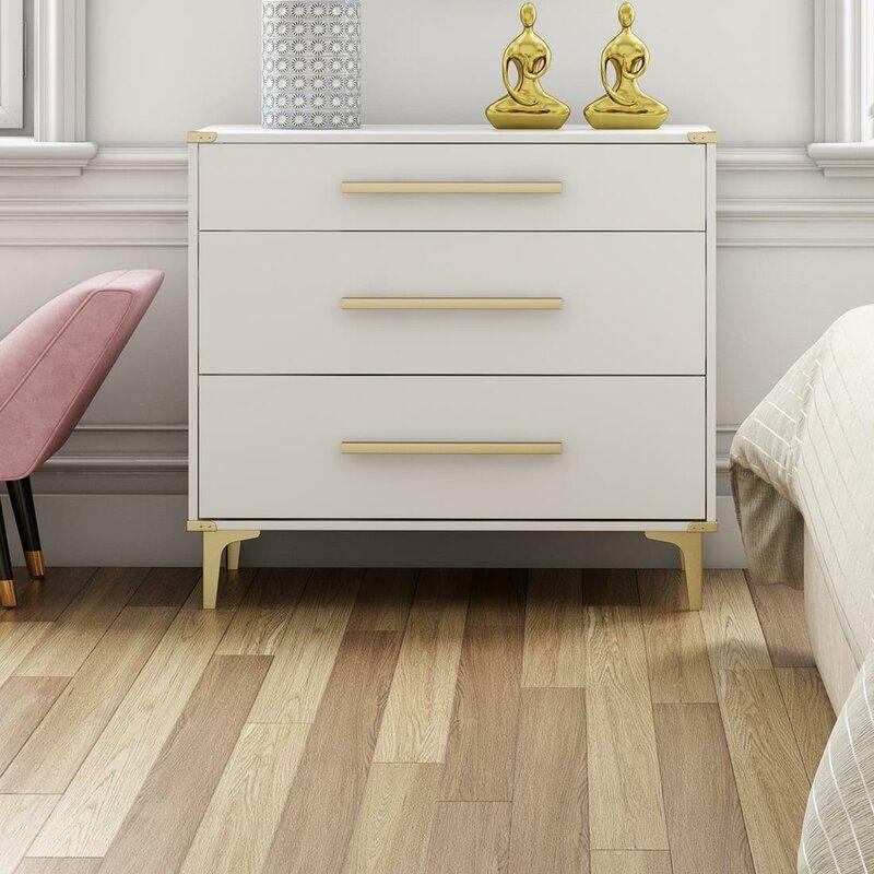 Karissa 3 Drawer Chest Modern Bedroom Design Shabby Chic Dresser Dresser Drawers