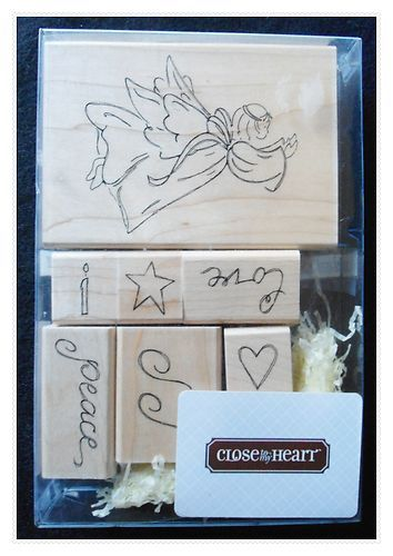 CTMH Close to My Heart Mounted Rubber Christmas Stamps NIP Angel Peace Joy Love | eBay
