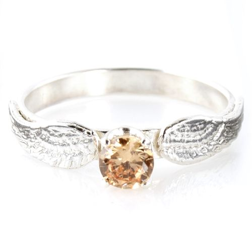 Superb Harry Potter Golden Snitch Engagement Ring   Spiffing Jewelry Beatifull Ring  I Would Love To Get This One