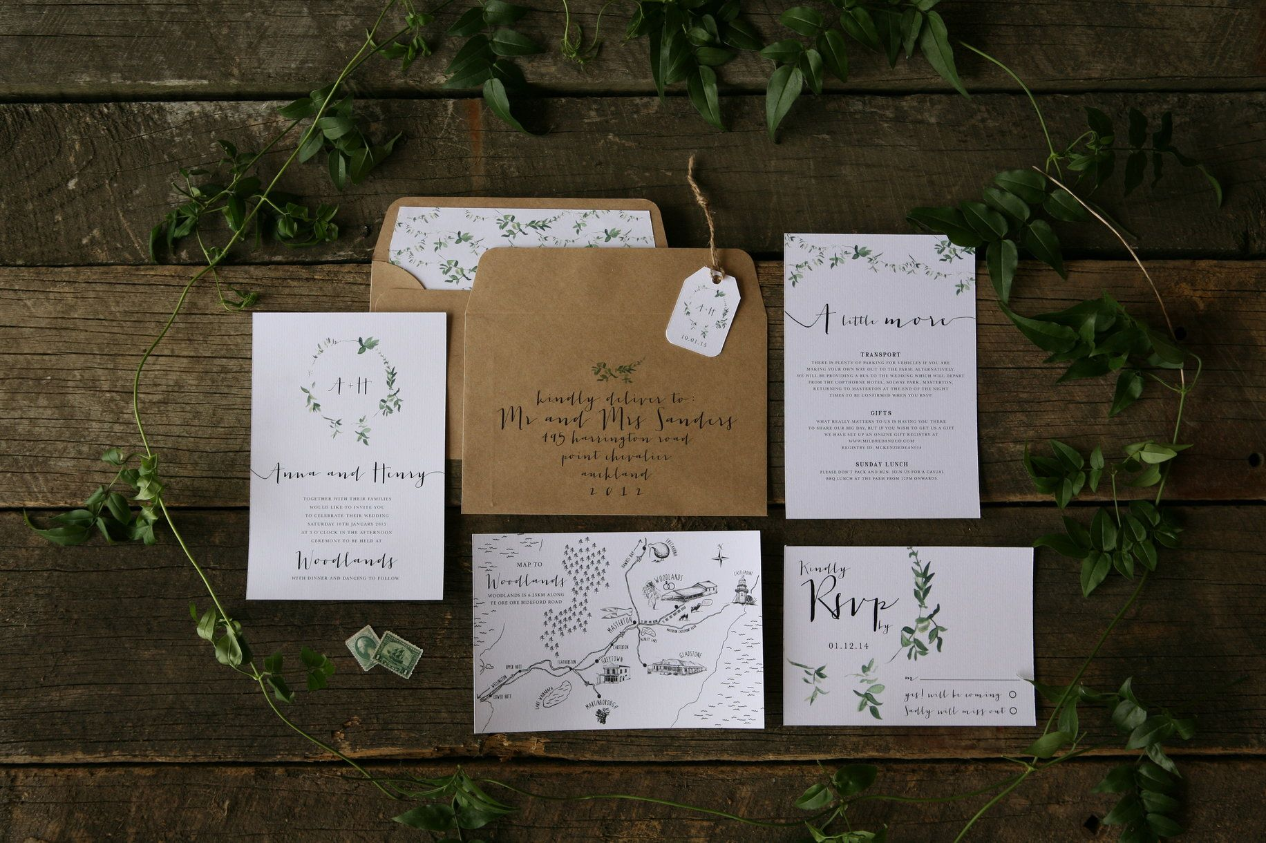 Fox and the Hare - invitation design | Designer wedding invitations ...