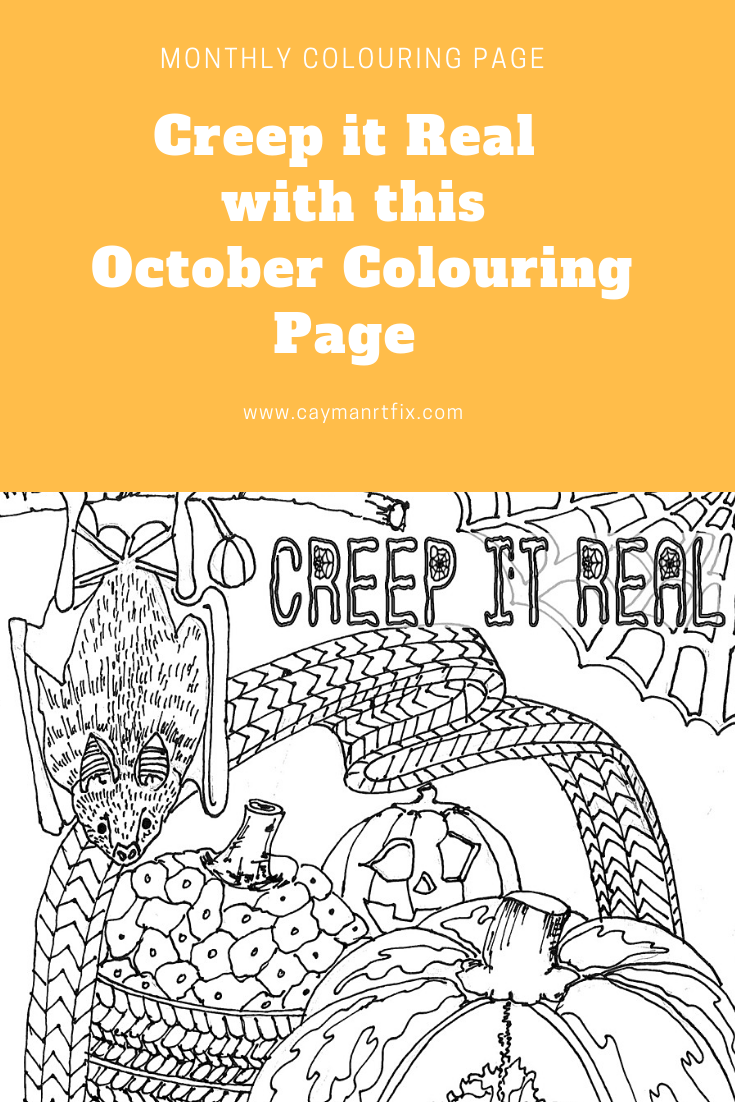 October Colouring Page: Creep it Real | Coloring pages ...