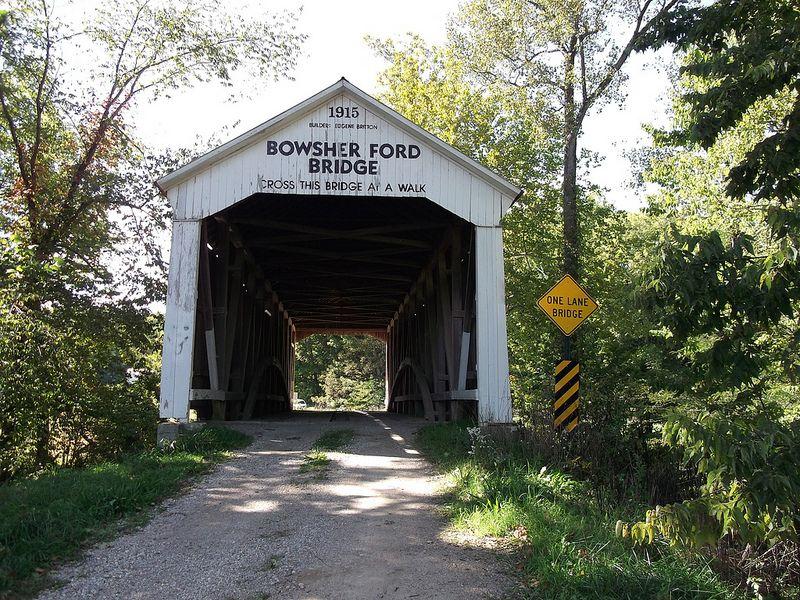 Bowsher ford bridge covered bridges bridge across the