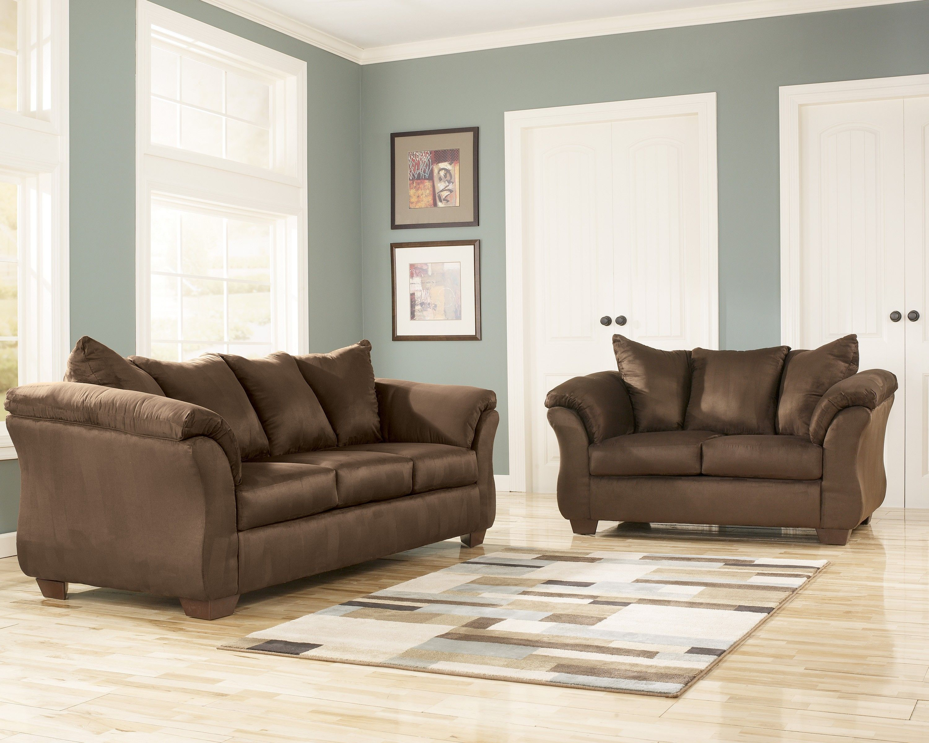 Darcy Cafe Sofa Loveseat Set Marjen Of Chicago Chicago - Marjen furniture