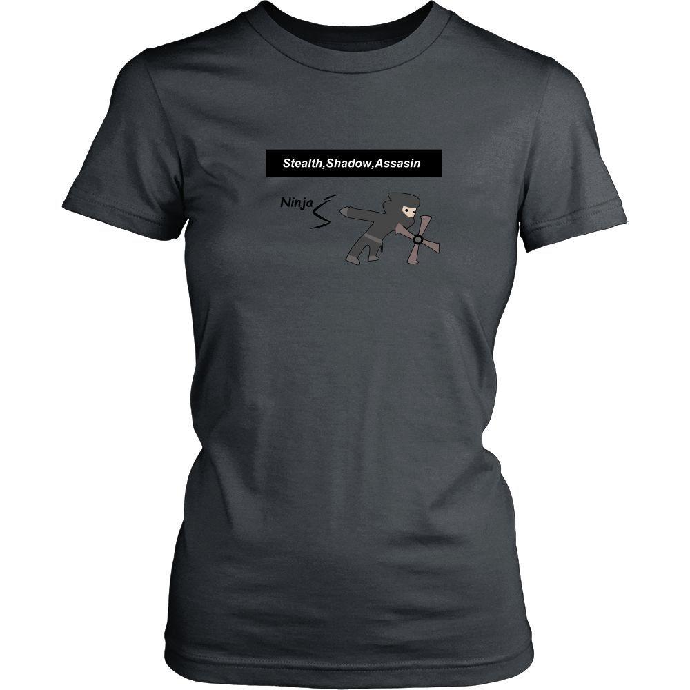 Ninja Women Round Neck Tee Shirt