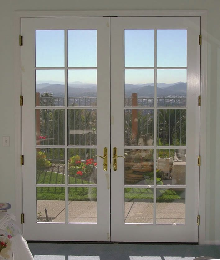Mahogany Wood Double French Door With 10 5 Glass Prehung French
