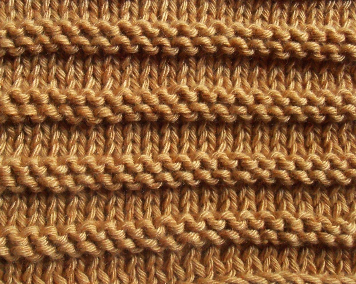 tricoter jersey envers
