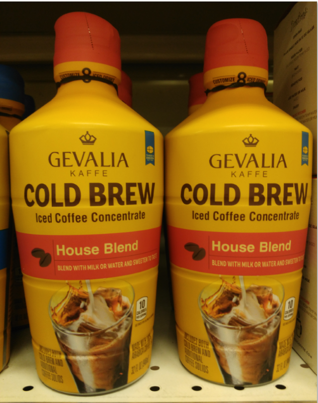 Gevalia Cold Brew Ice Coffee Concentrate House Blend