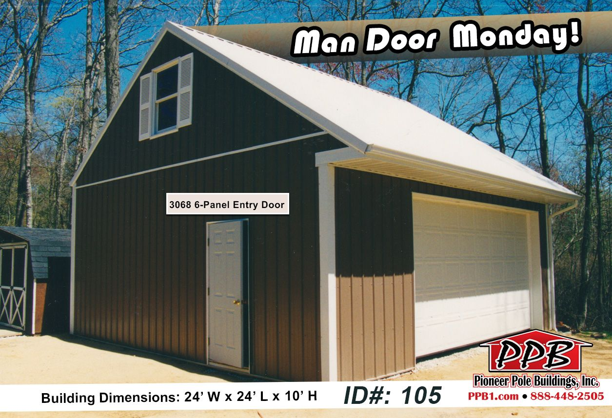 Man door monday dimensions 24 w x 24 l x 10 h id for 10 x 8 garage door price