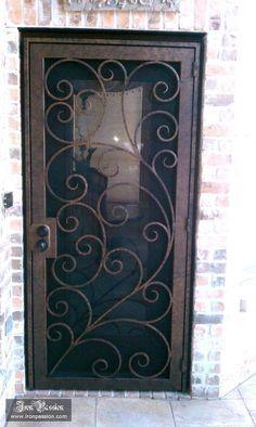 Iron Passionu0027s Wrought Iron Security Screen Door IP SD 004