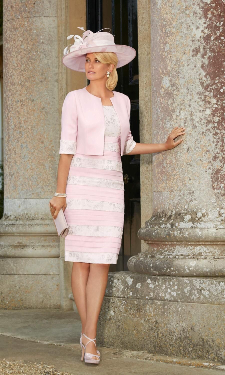 Mother outfits for wedding  Condici Mother Of The Bride Outfit  Rose Quartz Cream Condici