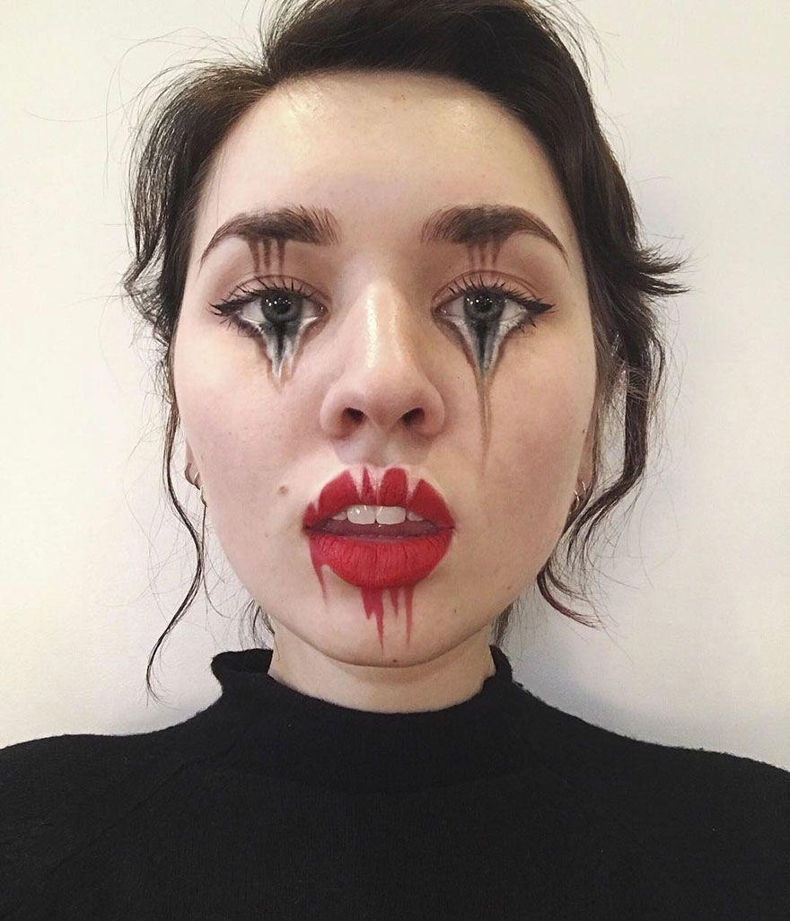 Optical Illusion Make Up Mimi Choi Cool Halloween Makeup Horror Makeup Makeup
