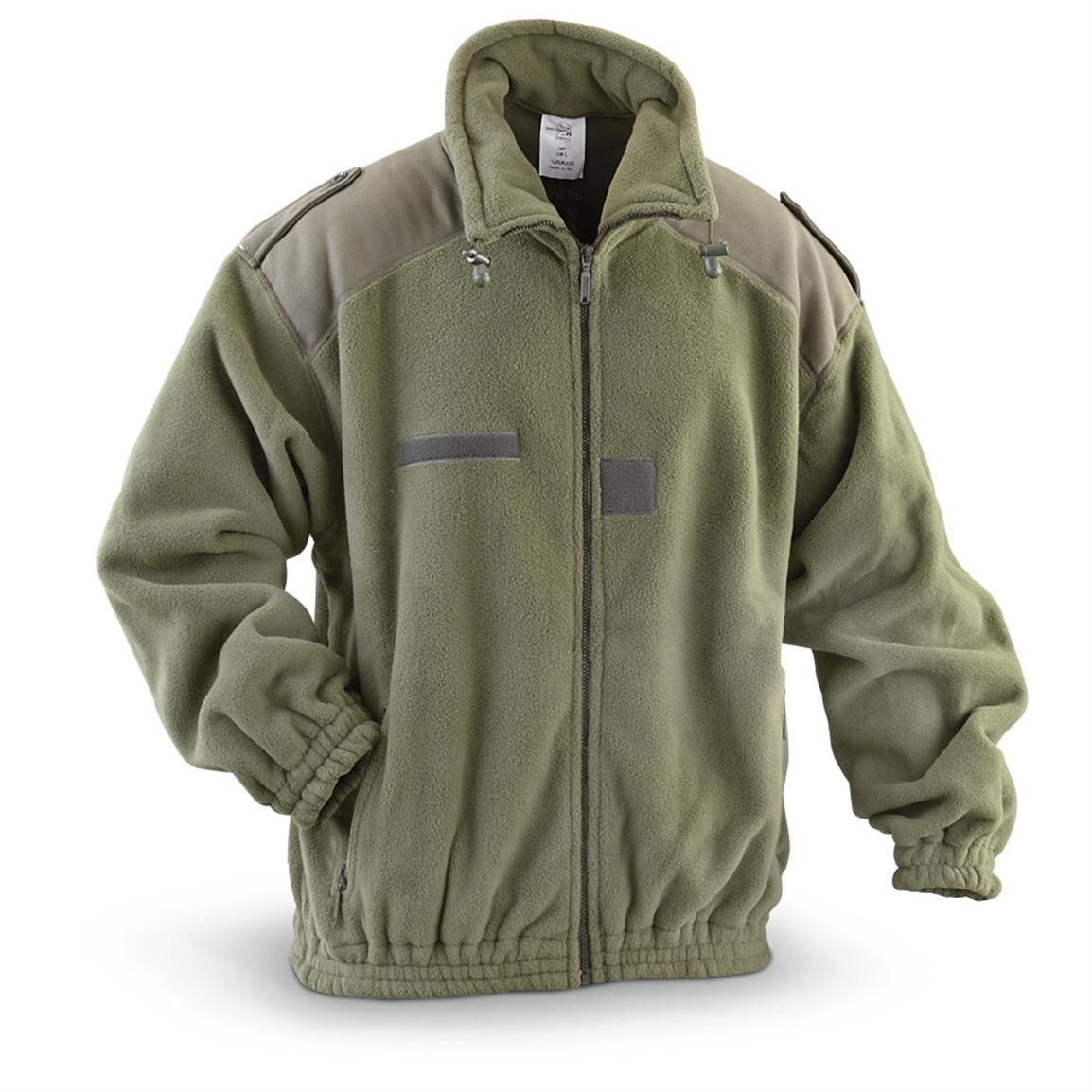NATO Military Surplus Heavyweight Fleece Jacket, New | Military ...