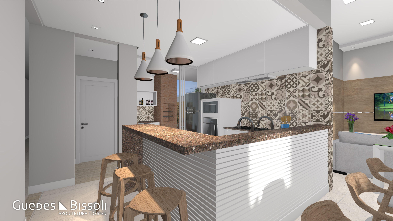 Cozinha Americana Com Lumin Ria Pendente Resid Ncia Gr