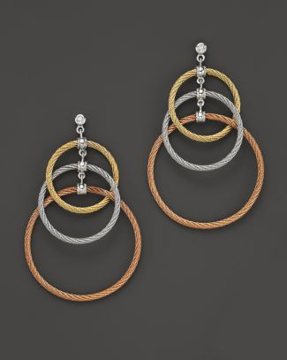 "Charriol ""Classique"" 3 Circle Tri Color Drop Earrings  Bloomingdale's"