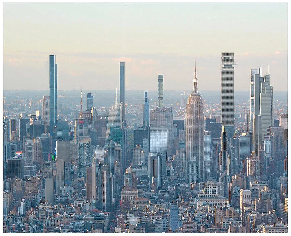 A Rendering Of The New York Midtown Skyline In 2022 After All Supertall Skyscraper Projects Have Been Completed Buildings Includ Supertall Skyline Skyscraper