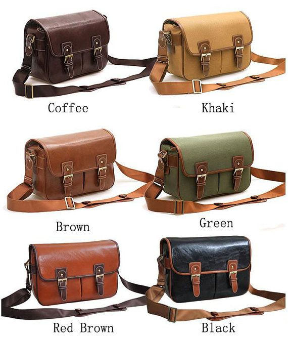 Large Camera Bags Pu Leather Dslr Camera Bags Christmas