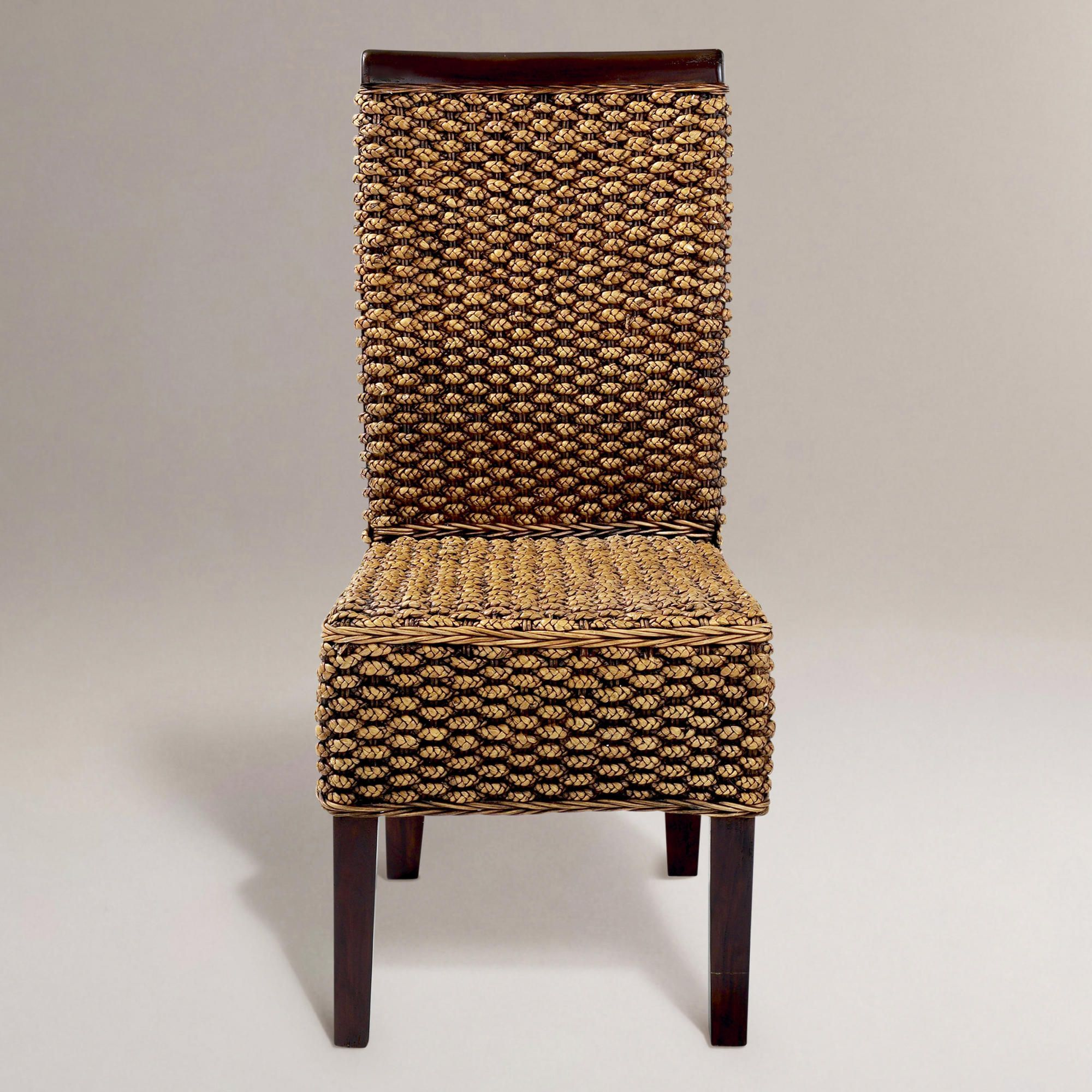 Kaya Woven Dining Chairs Set Of 2 World Market Dining Chairs