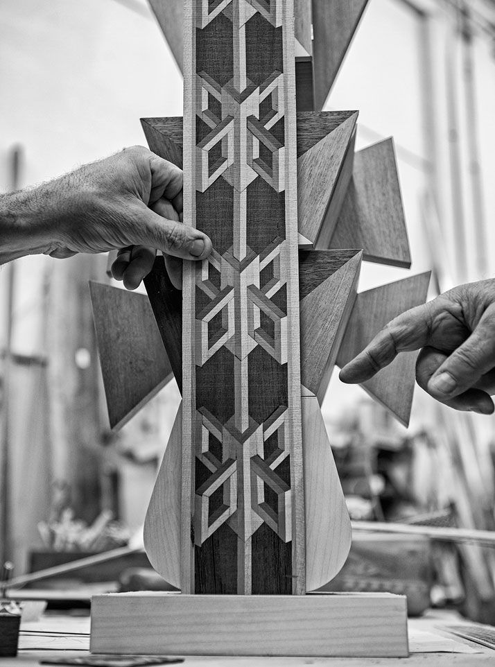 Time According To Alessandro Mendini And His Artisans   Eight. Fedeli Restauri, inlaid wood (making of) photo by Emanuele Zamponi, Courtesy of Vacheron Constantin