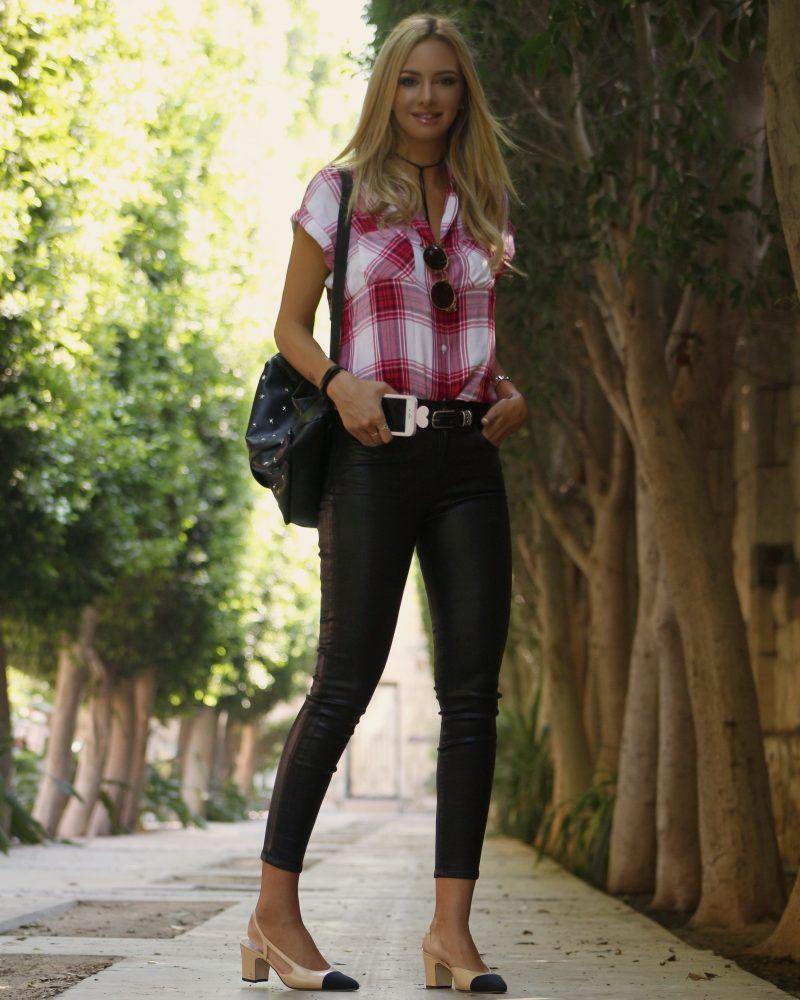 Famous fashion blogger - Rails Brittshirt Cairo Chanel Dress Egypt Famous Fashion