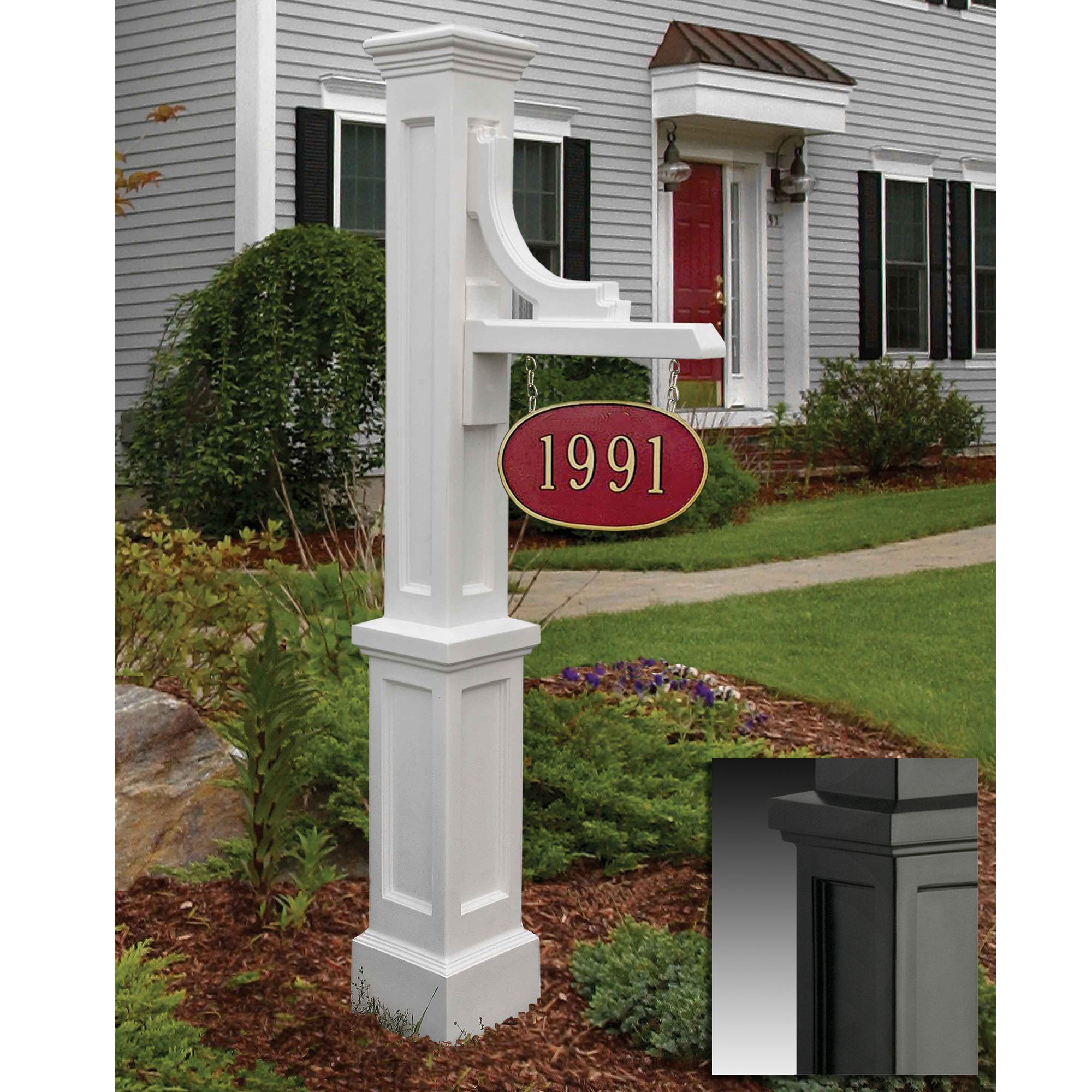 Mayne Woodhaven Address Sign In White Also Available In Clay