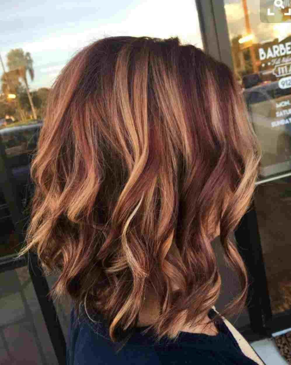 Caramel And Red Highlights In Brown Hair Red Highlights In Brown Hair Light Brown Hair Hair Color Auburn