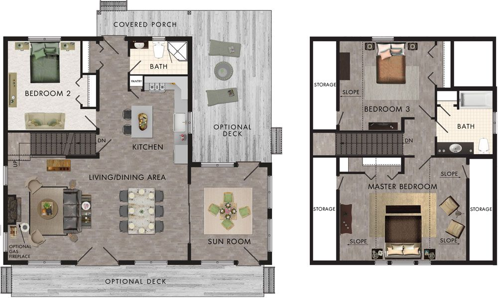 Oregon Floor Plan by beaverhomesandcottages Duplex