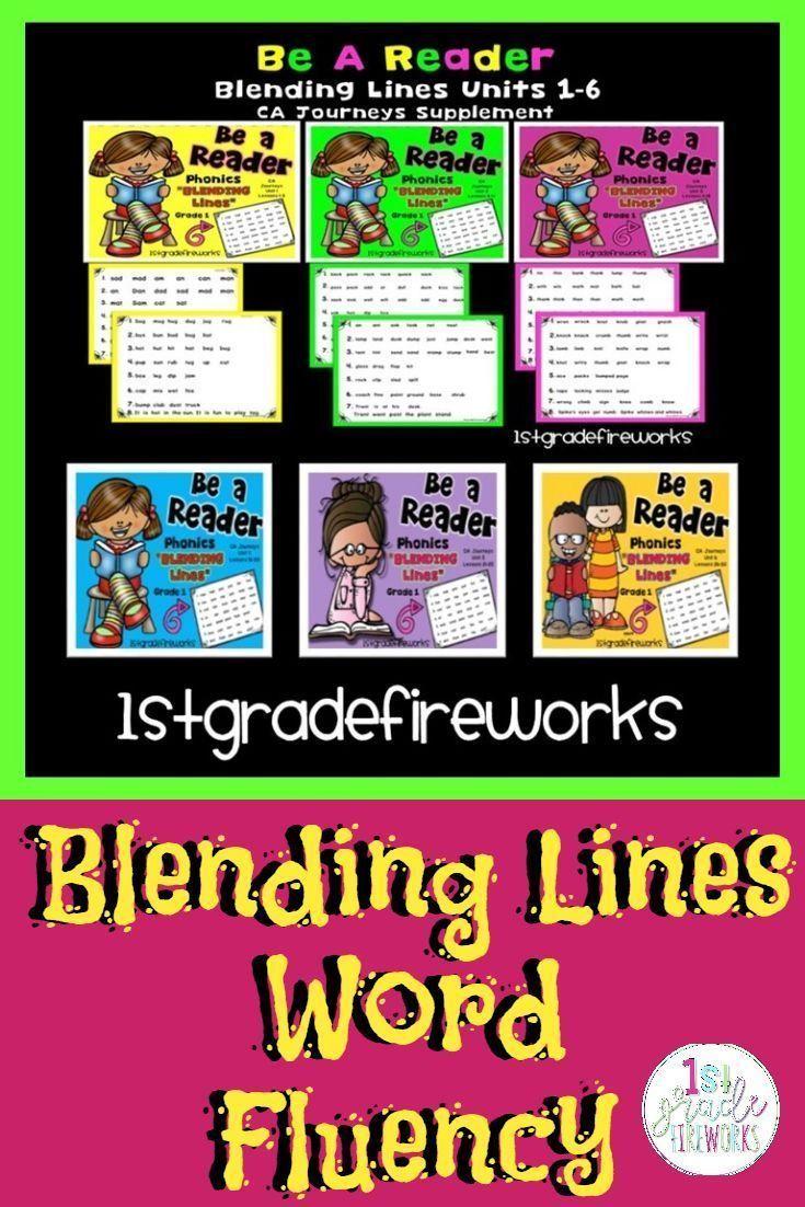 BLENDING LINES - Reading FLUENCY Passages Phonics pages for blending words. Fluency practice. Phoni