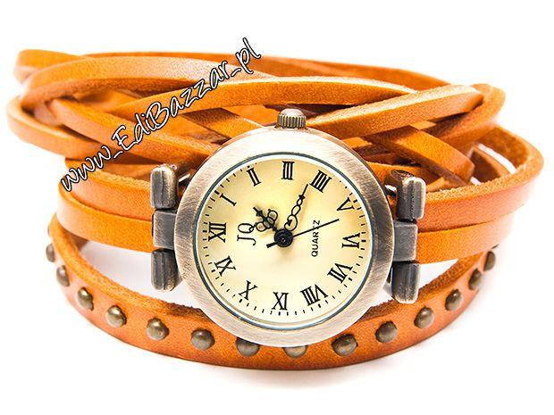 Pleciony Zegarek Punkowy Skorzany Cwieki Accessories Wrap Watch Watches