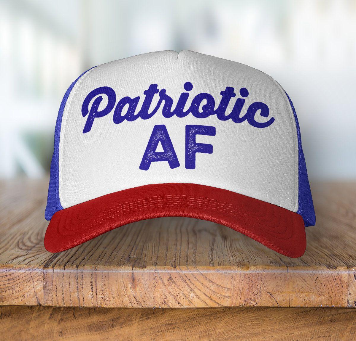 Patriotic AF Snapback Trucker Hat ed51c1c7847a