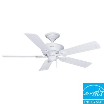Hunter caicos 52 in indooroutdoor cottage white wet rated ceiling available in store hunter caicos 52 in cottage white wet rated ceiling fan 53211 mozeypictures Choice Image