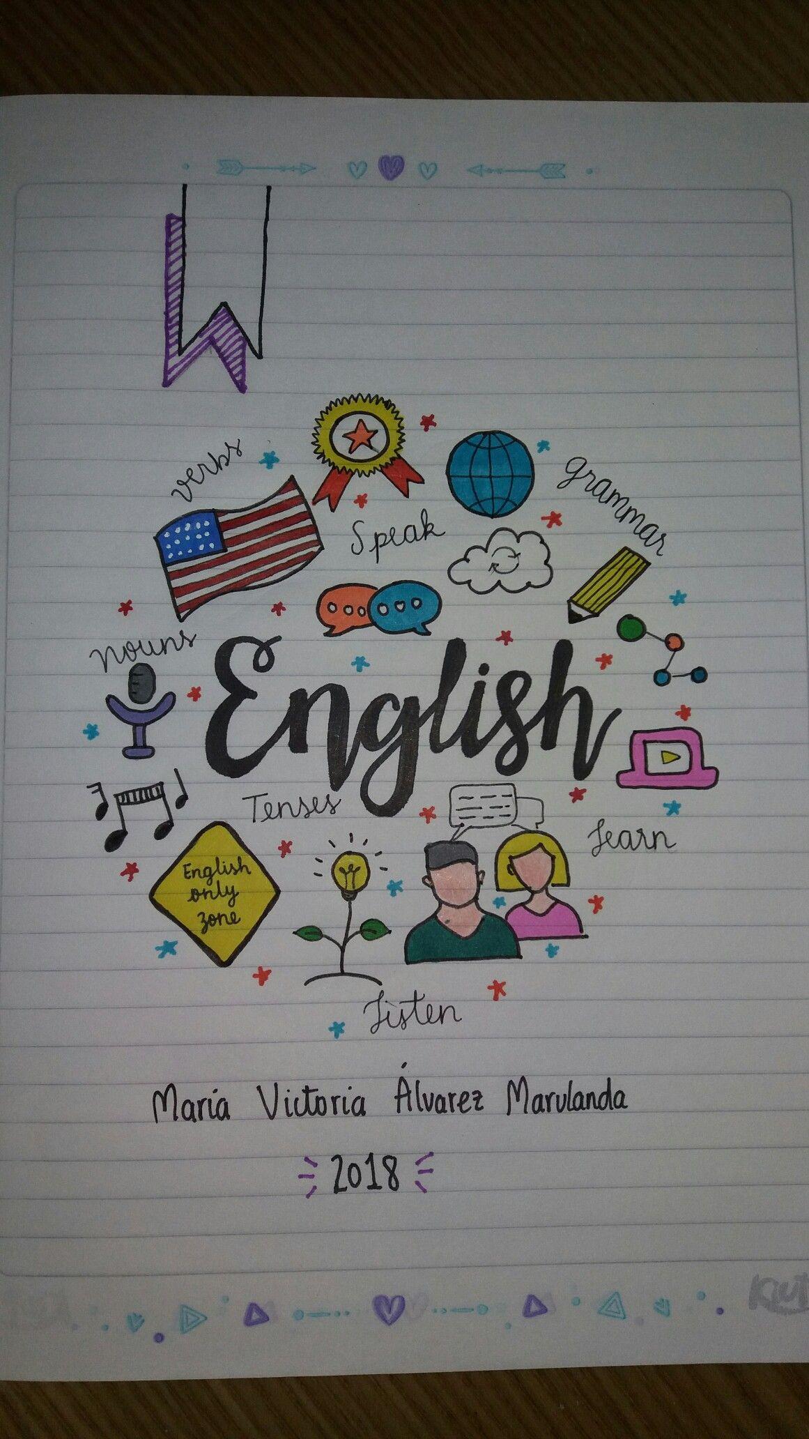Cuaderno Inglés English Notebook Cuadernos Cuadernos Cuaderno