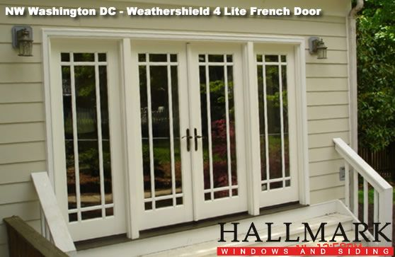 single patio door | Photo Above After - A Weathershield 4 Lite French Door with & single patio door | Photo Above: After - A Weathershield 4 Lite ...