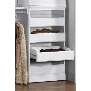 Rubbermaid closet drawers