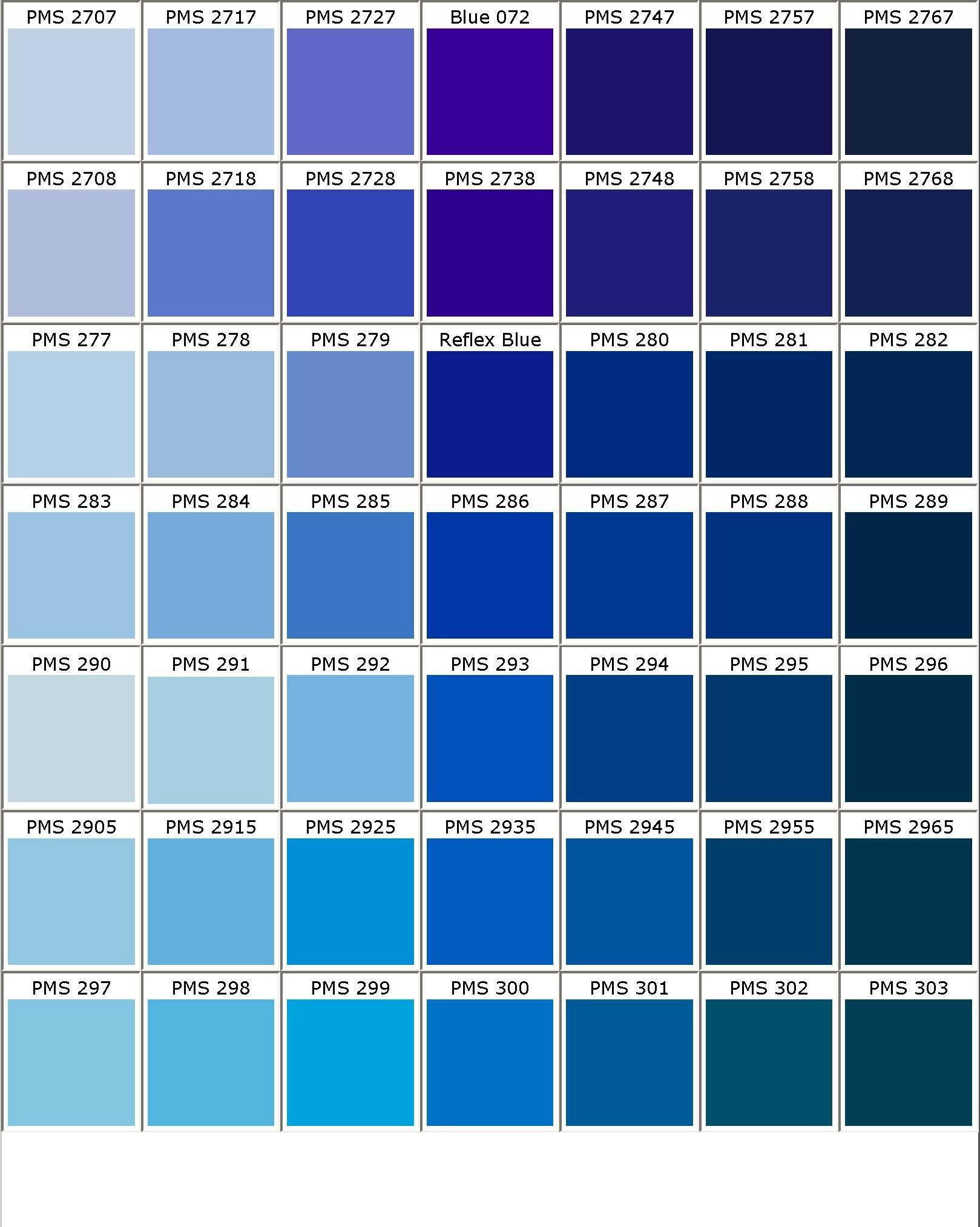 pantone blue Google Search AG Pinterest – Sample Pantone Color Chart