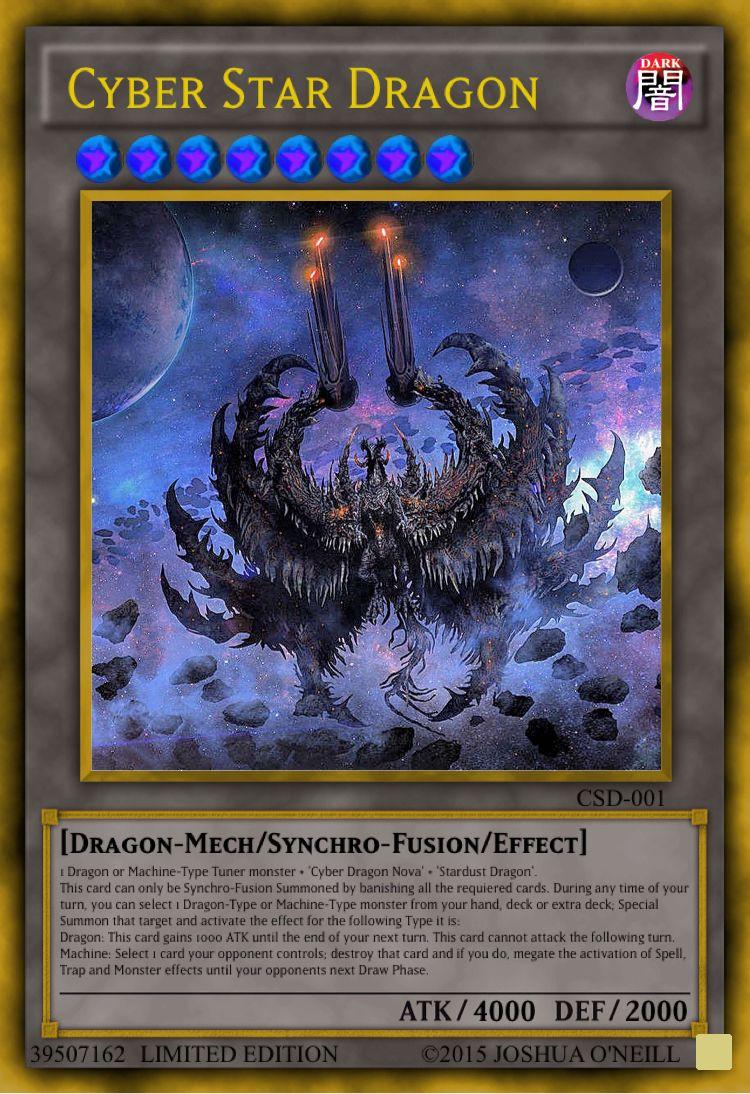 Cyber Star Dragon Custom Yu Gi Oh Cards