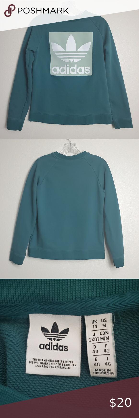 Adidas Originals Women S Trefoil Sweatshirt Medium Adidas Originals Women Sweatshirts Adidas Tops [ 1740 x 580 Pixel ]